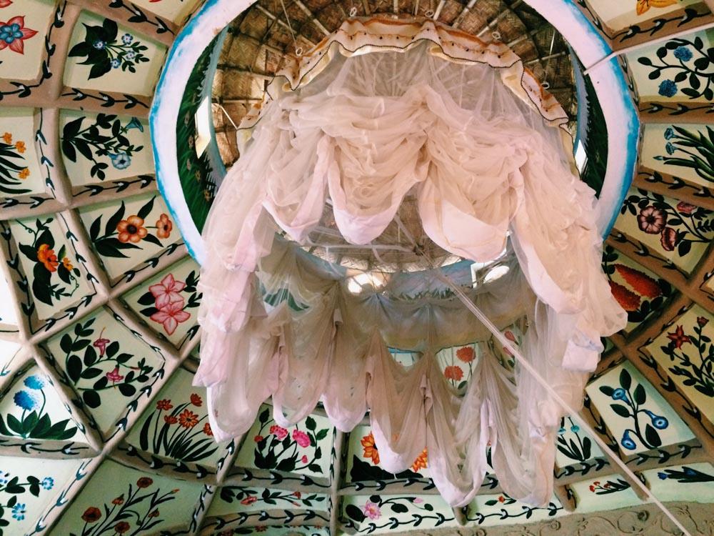 Mosquito net at Eden Garden, Ayurvedic Resort, Varkala