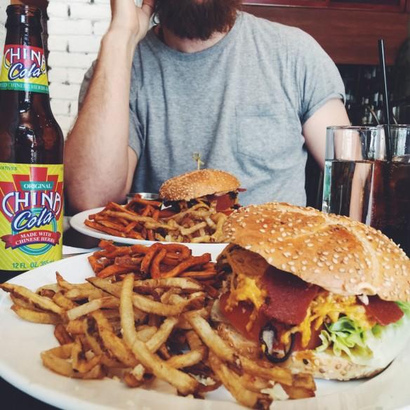 Vegan burger at Blossom du Jour