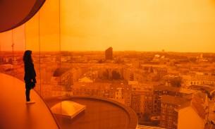 Rainbow panorama in Aros Aarhus