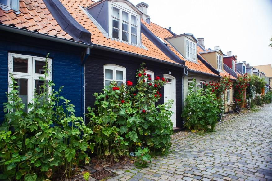 Cute street in Aarhus