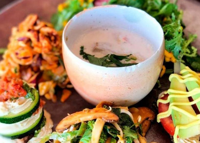 Bali vegetarian food - Moksa