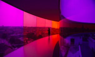 Your rainbow panorama Aarhus - pinks and purples