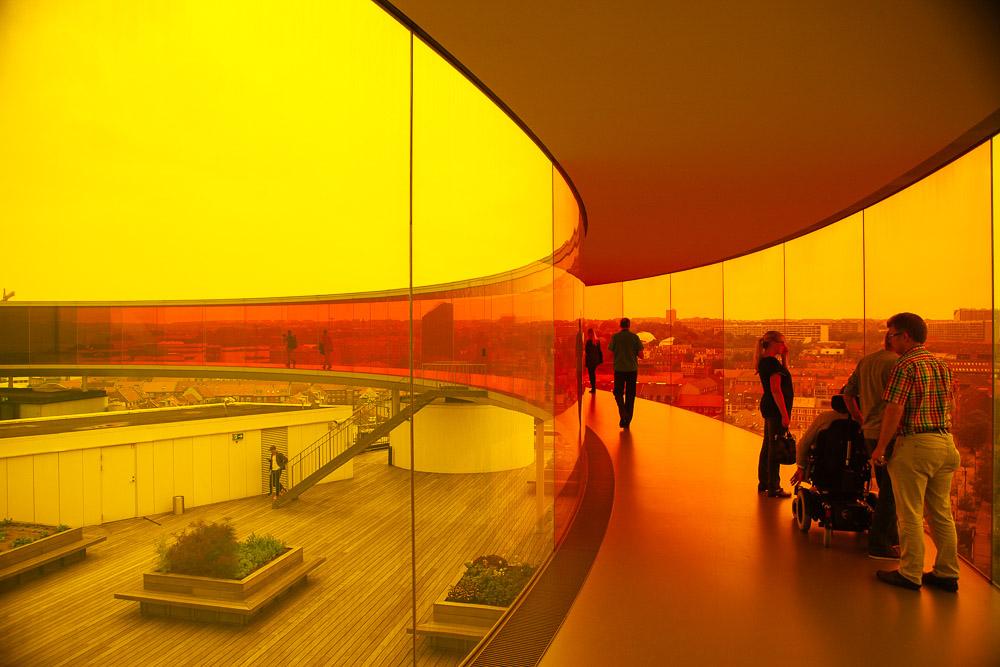 Olafur Eliasson's Your rainbow panorama, Aarhus, yellow