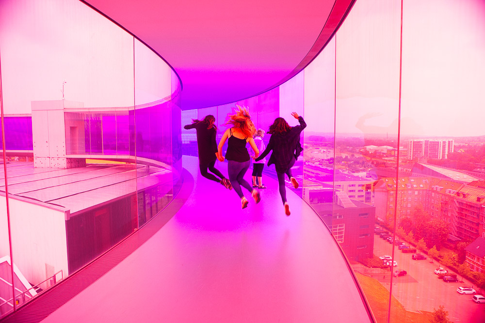 Your rainbow panorama Aarhus Pink