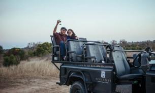 Victoria and Steve at Makanyi Safari Lodge, South Africa