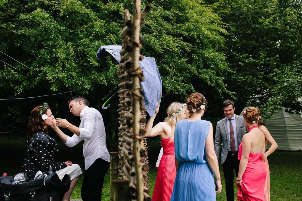 Getting ready for a festival wedding in England