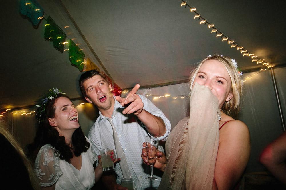 Wedding dancing at Cornish Tipi Weddings