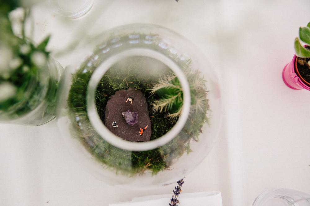 Bespoke Wedding terrarium centre piece