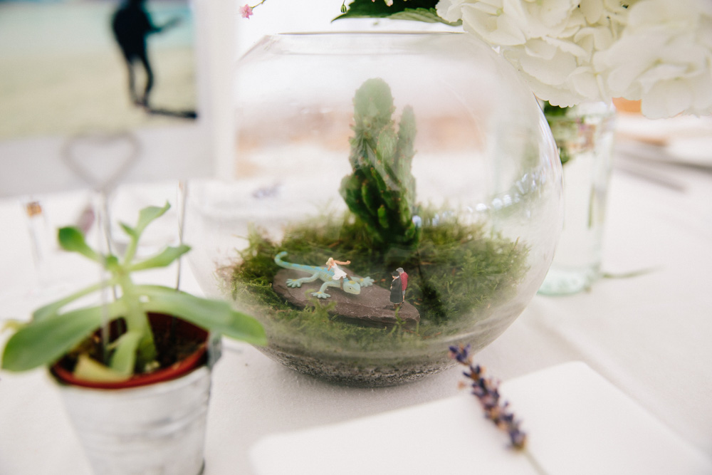 Wedding terrarium centre piece