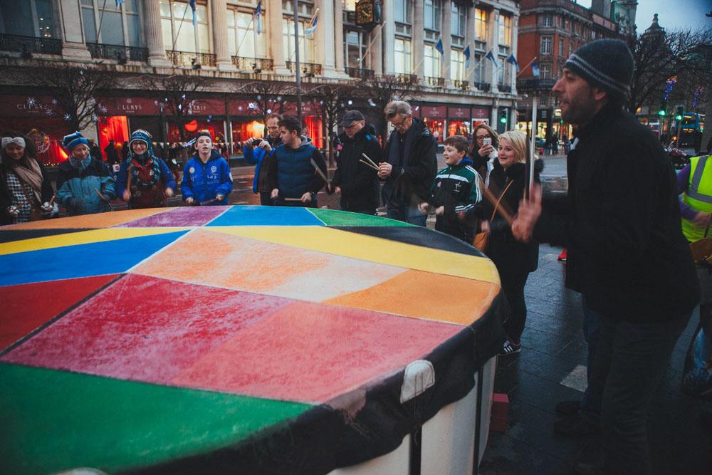 Team Fuinneamh Drum in Dublin
