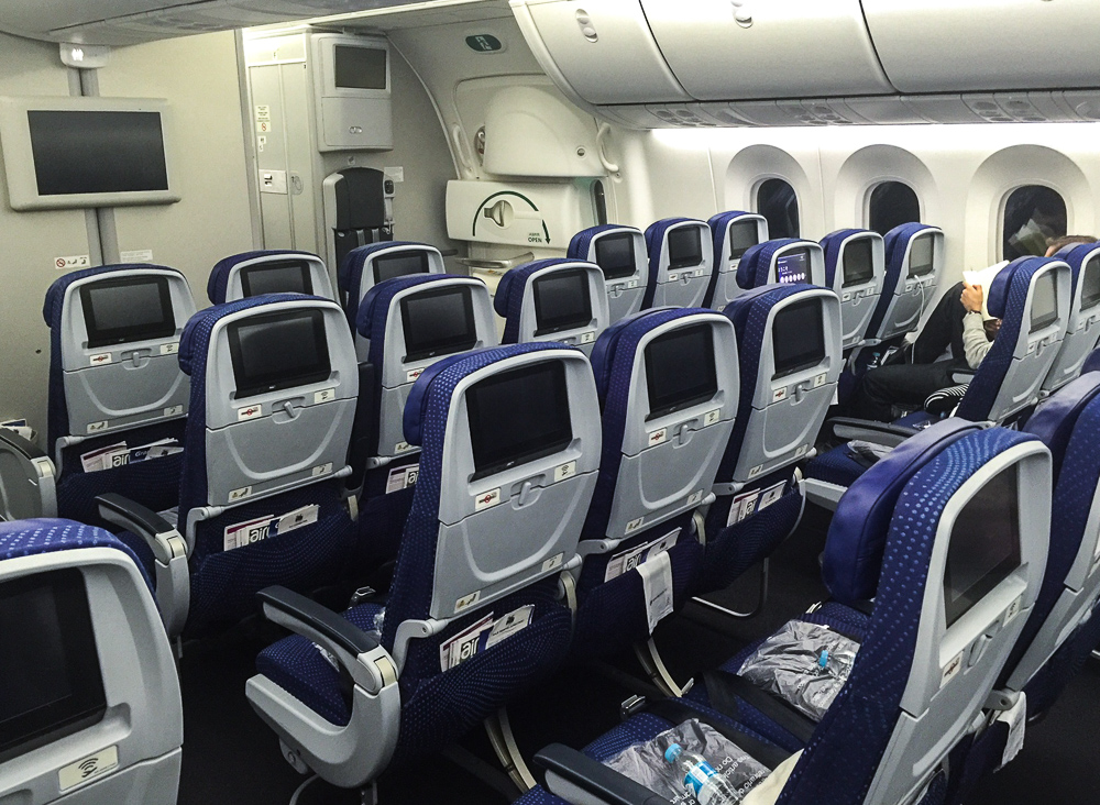 Empty Aeromexico flight (the one they wouldn't let us change to)