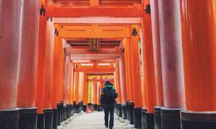 Instagram Japan - Steve walking in Kyoto