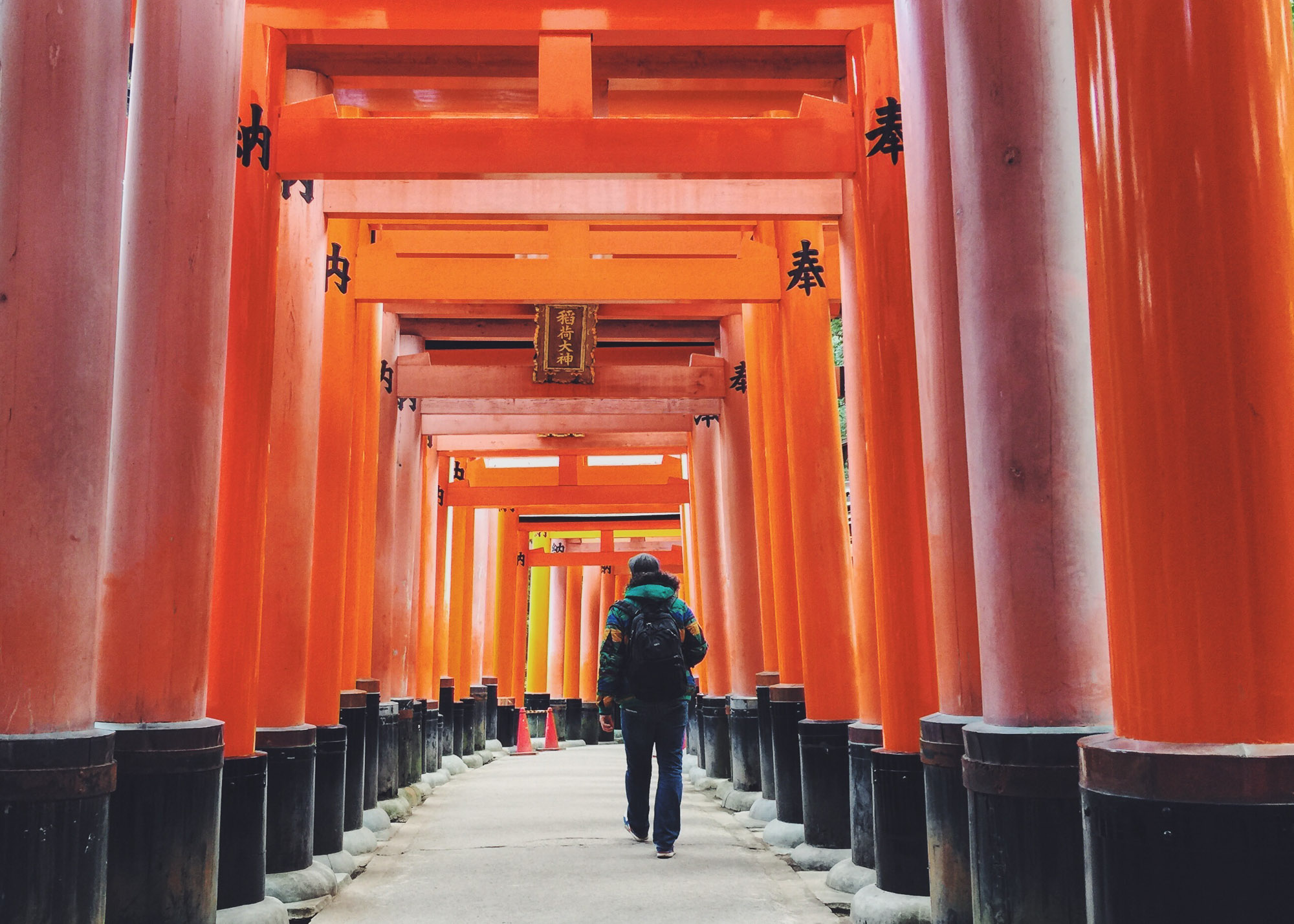 Instagram Japan - Steve walking in Kyoto