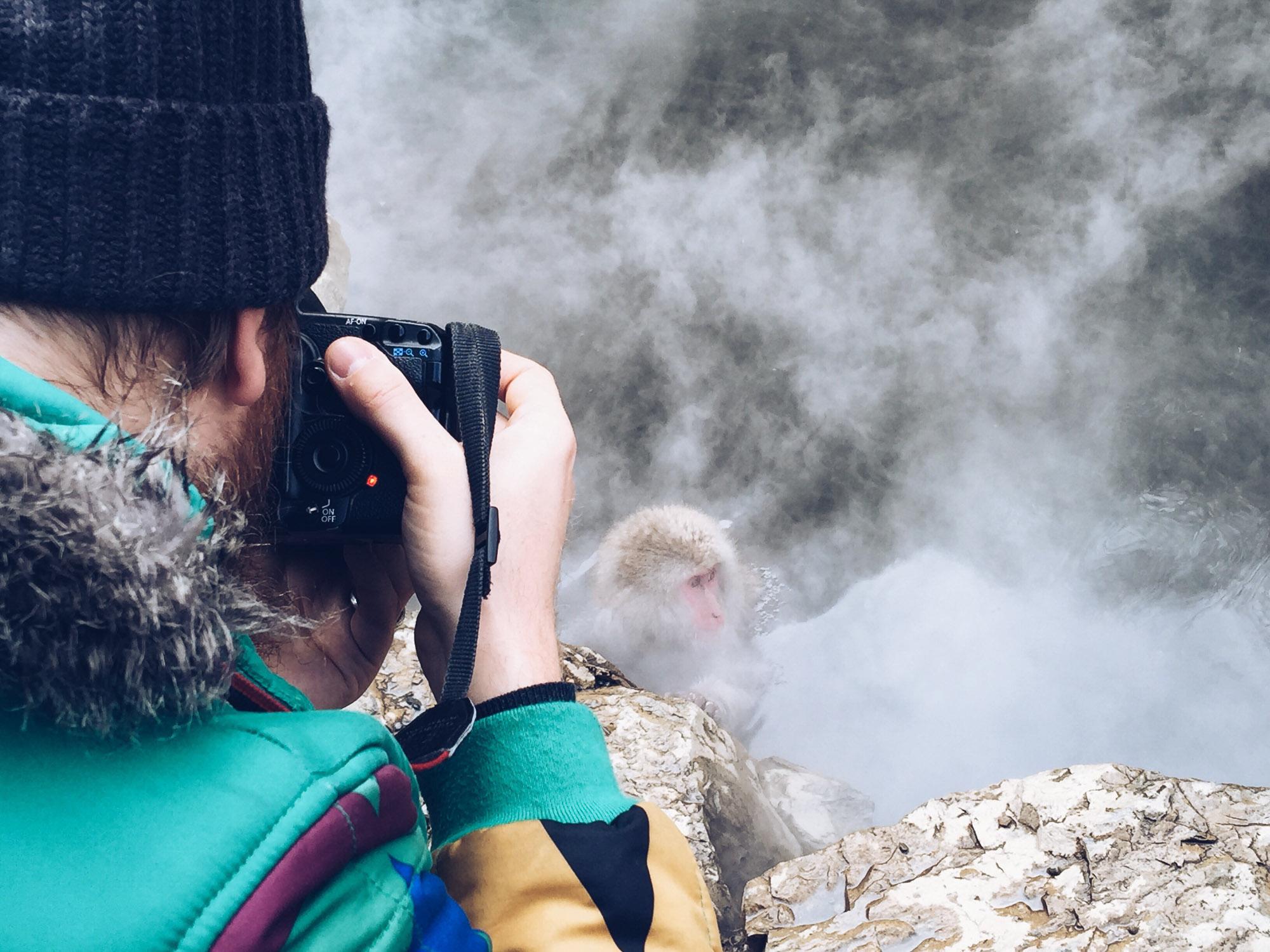 Instagramming Japan - steve with the snow monkeys