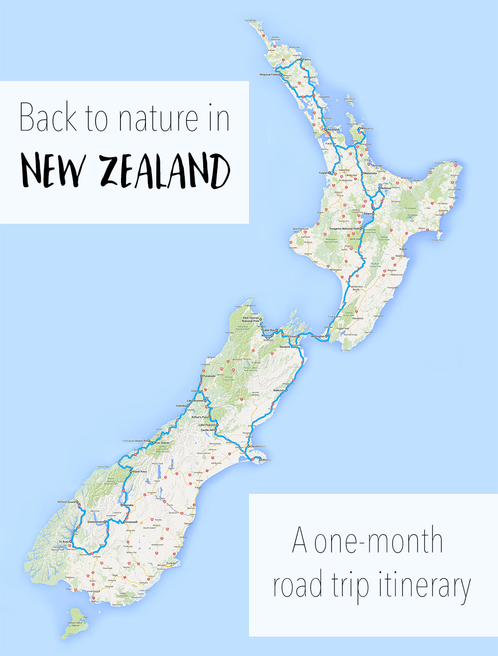 New Zealand North Island Road Map.The Ultimate New Zealand Road Trip North Island Itinerary
