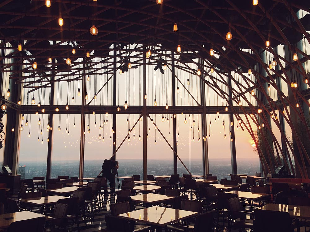 Insider guide to London - filming at Duck and Waffle