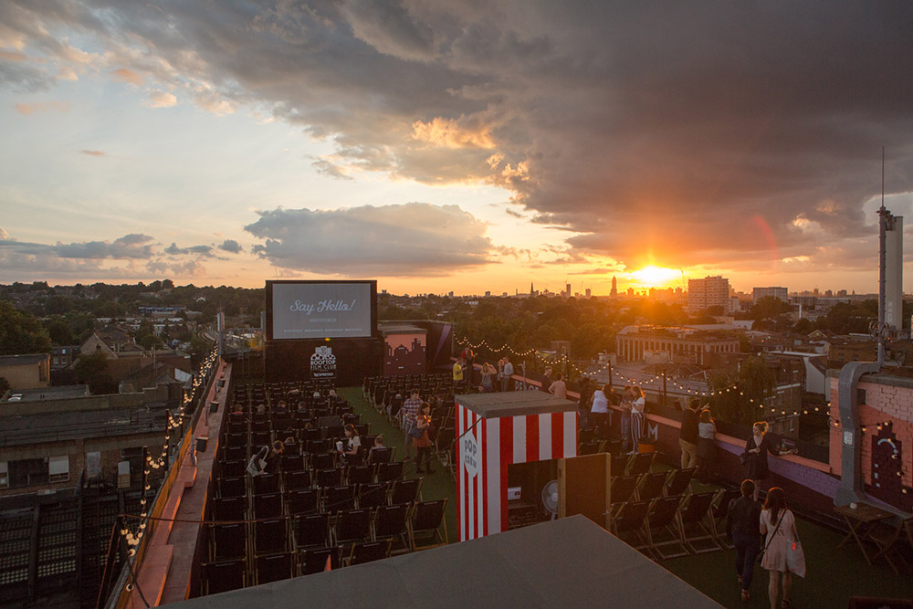 Rooftop film club, Peckham