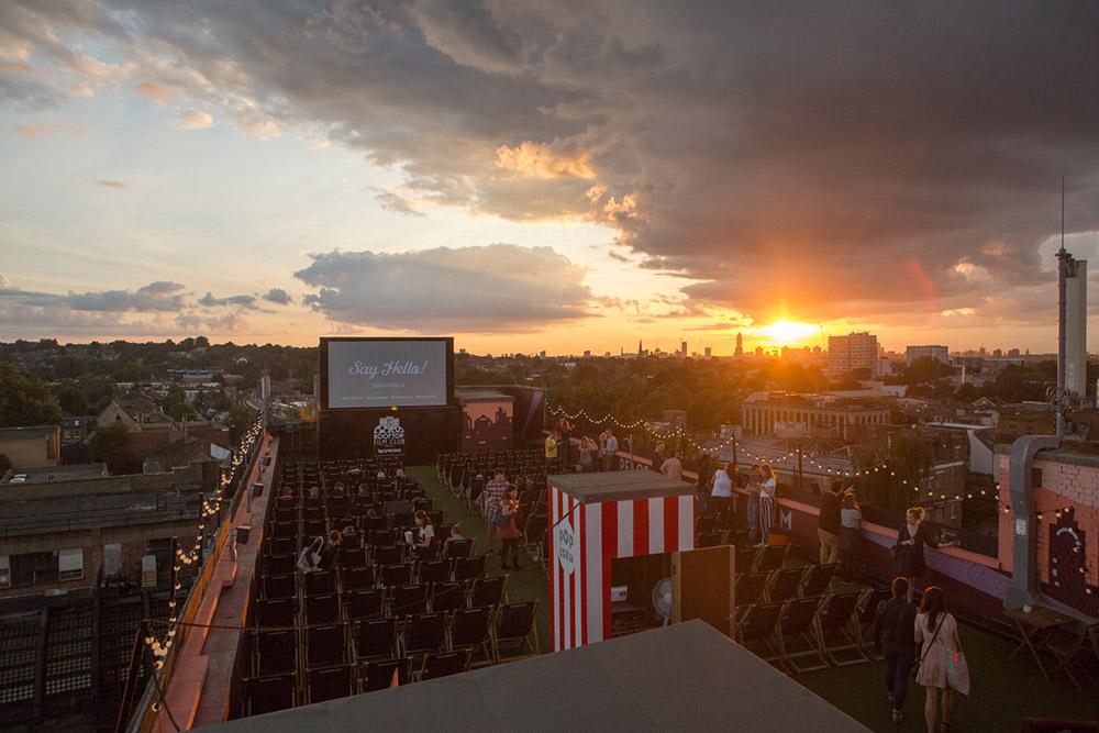 Rooftop film club, Peckham