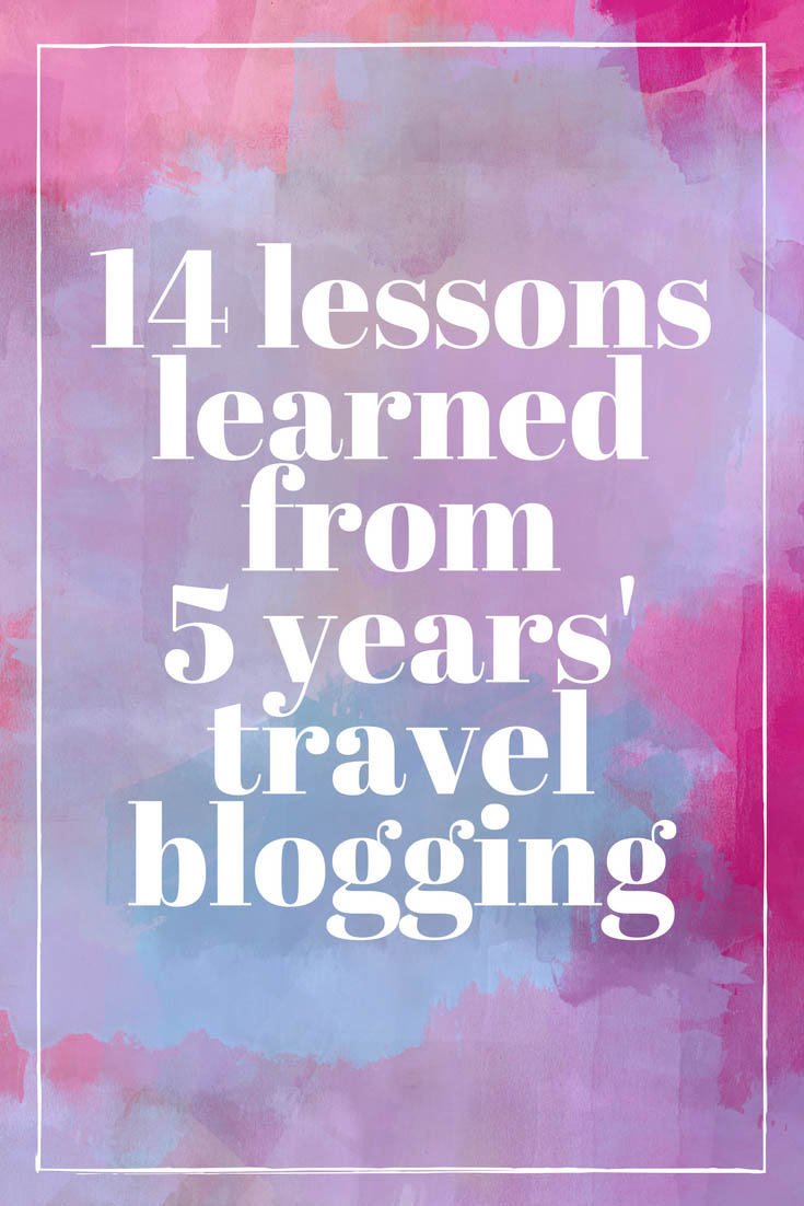 14 lessons learned from 5 years blogging