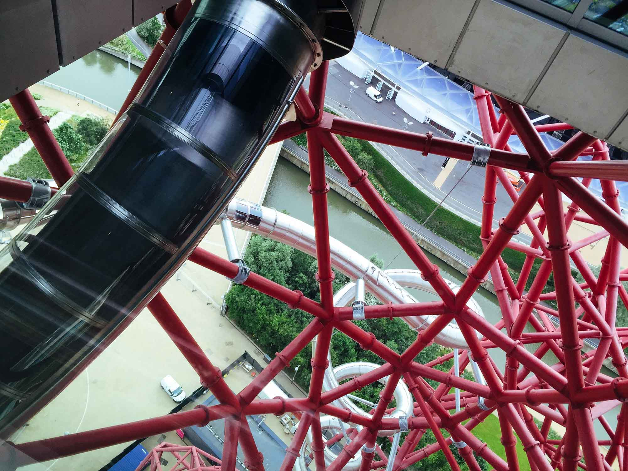 Best views in London- Arcelor Mittal Orbit and Slide