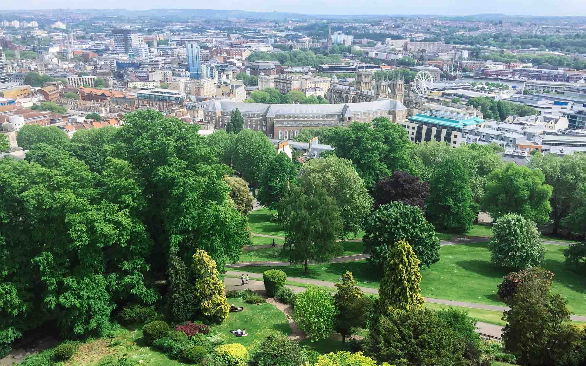 Things to do in Bristol - View from Cabot Tower on Brandon Hill