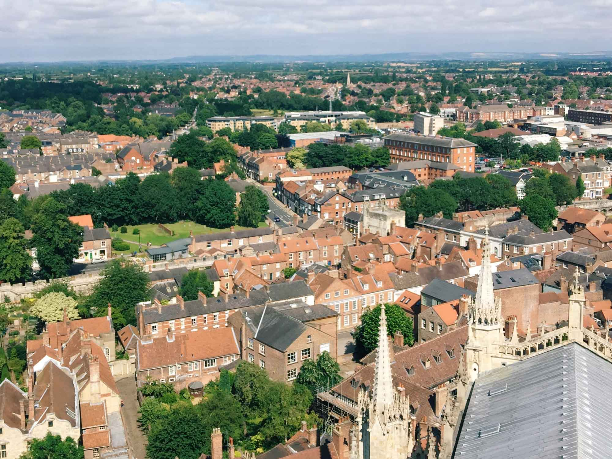 Best things to do in York - York Minster view from the tower