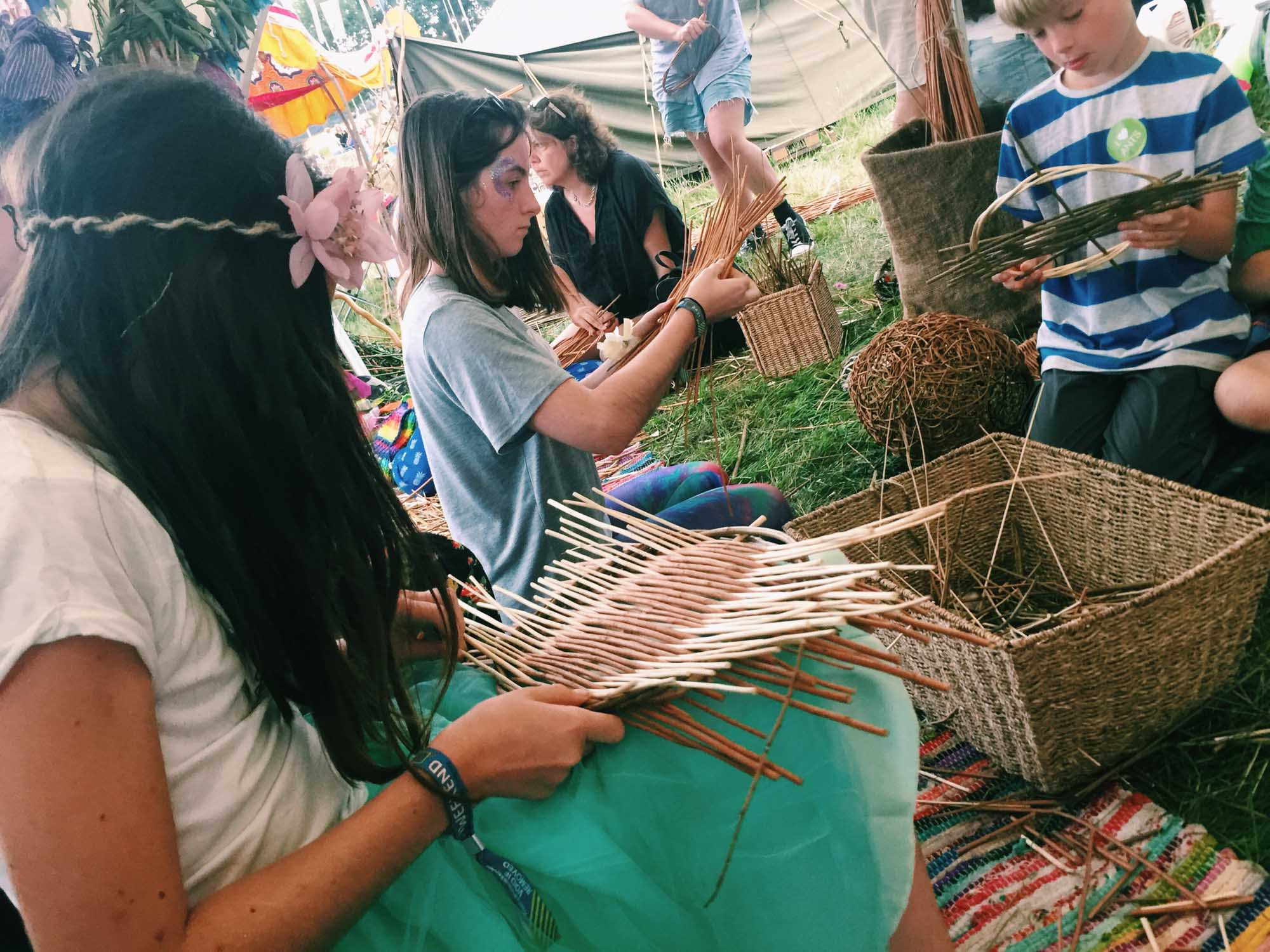 Making baskets at Latitude