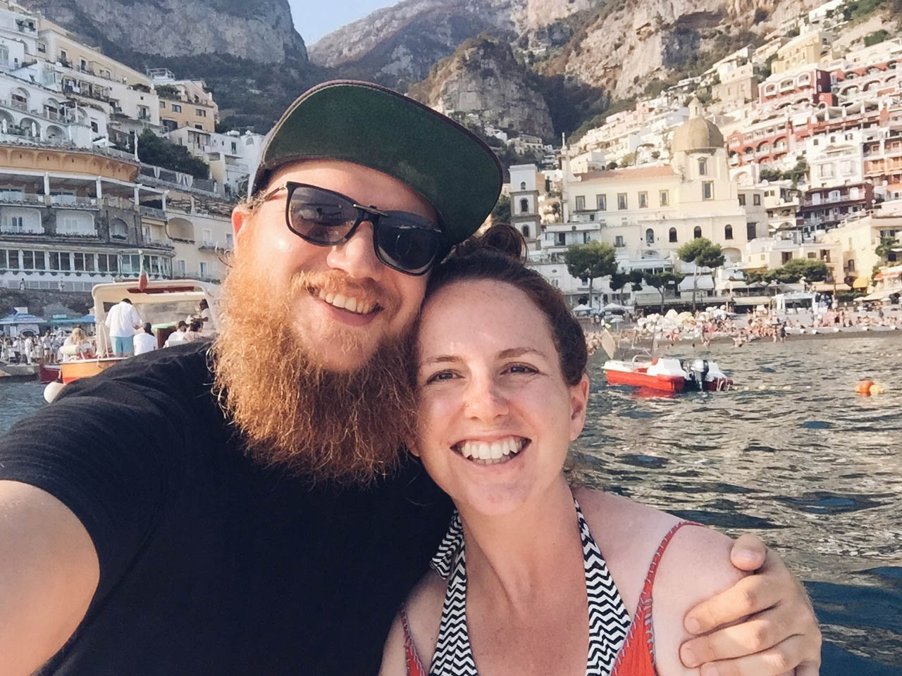 Victoria and Steve in Positano, Italy