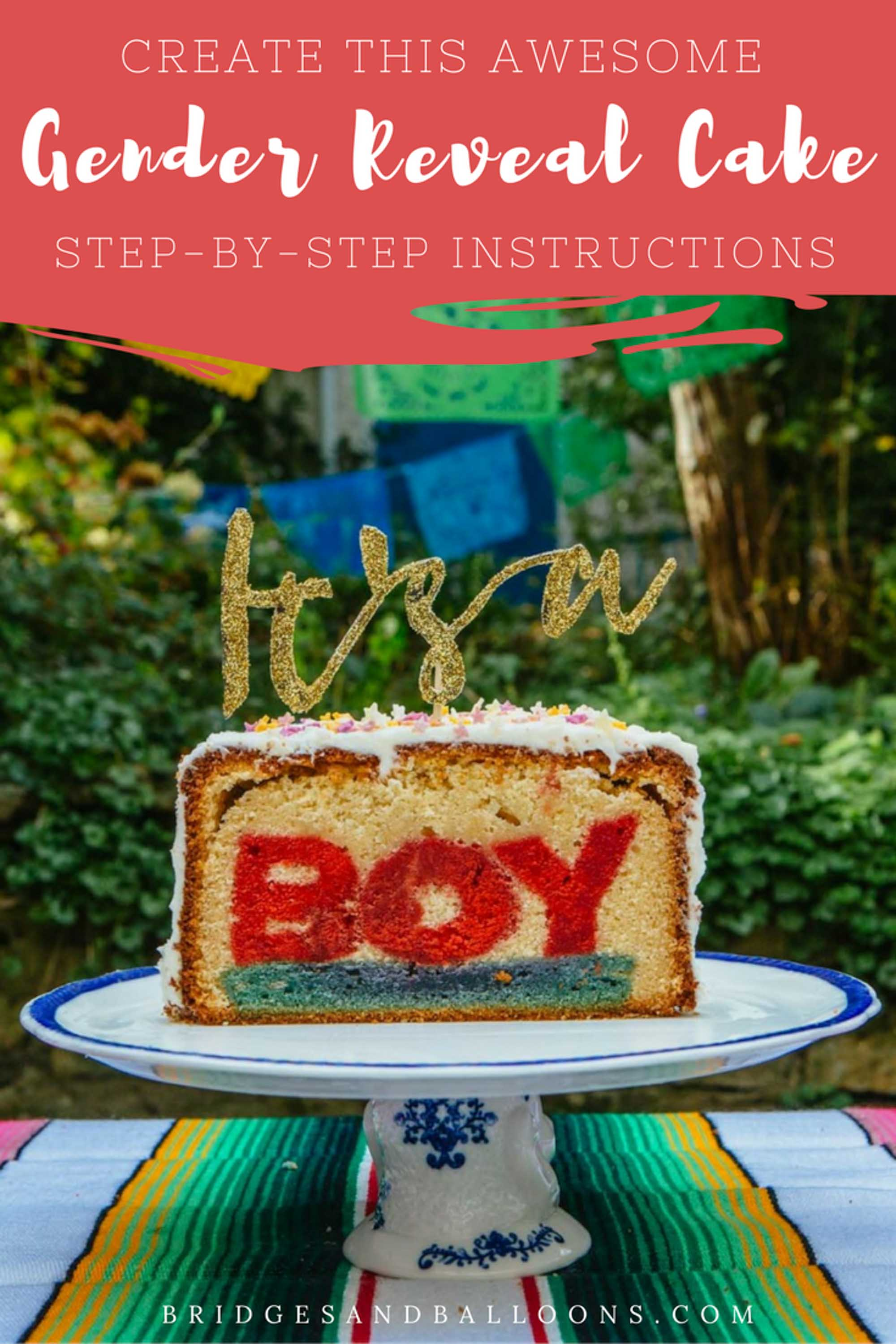 How to make a hidden word cake for your gender reveal party