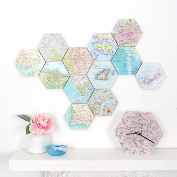 Christmas gifts for travel lovers - Map themed gifts