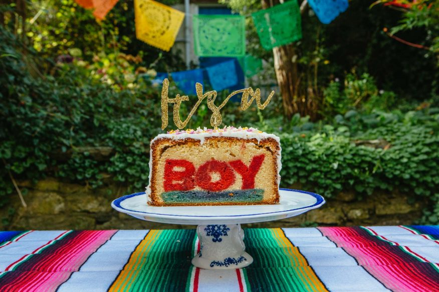 Gender Reveal Cake (Hidden Word Cake)