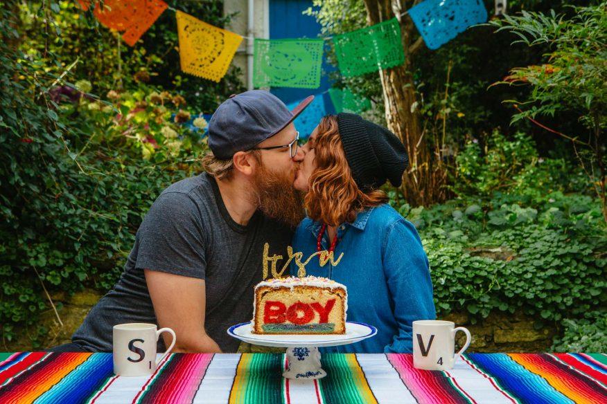 Gender Reveal Cake (Hidden Word Cake)
