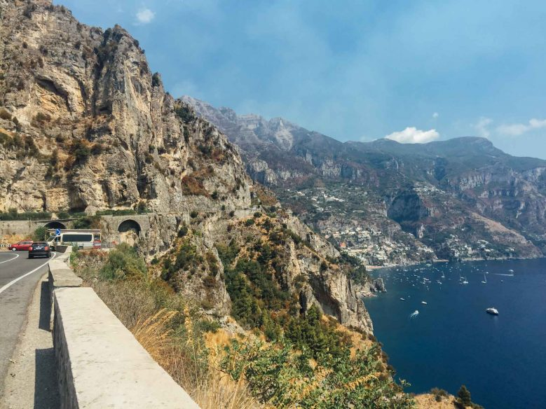 Road trip in Italy itinerary - Amalfi coast road