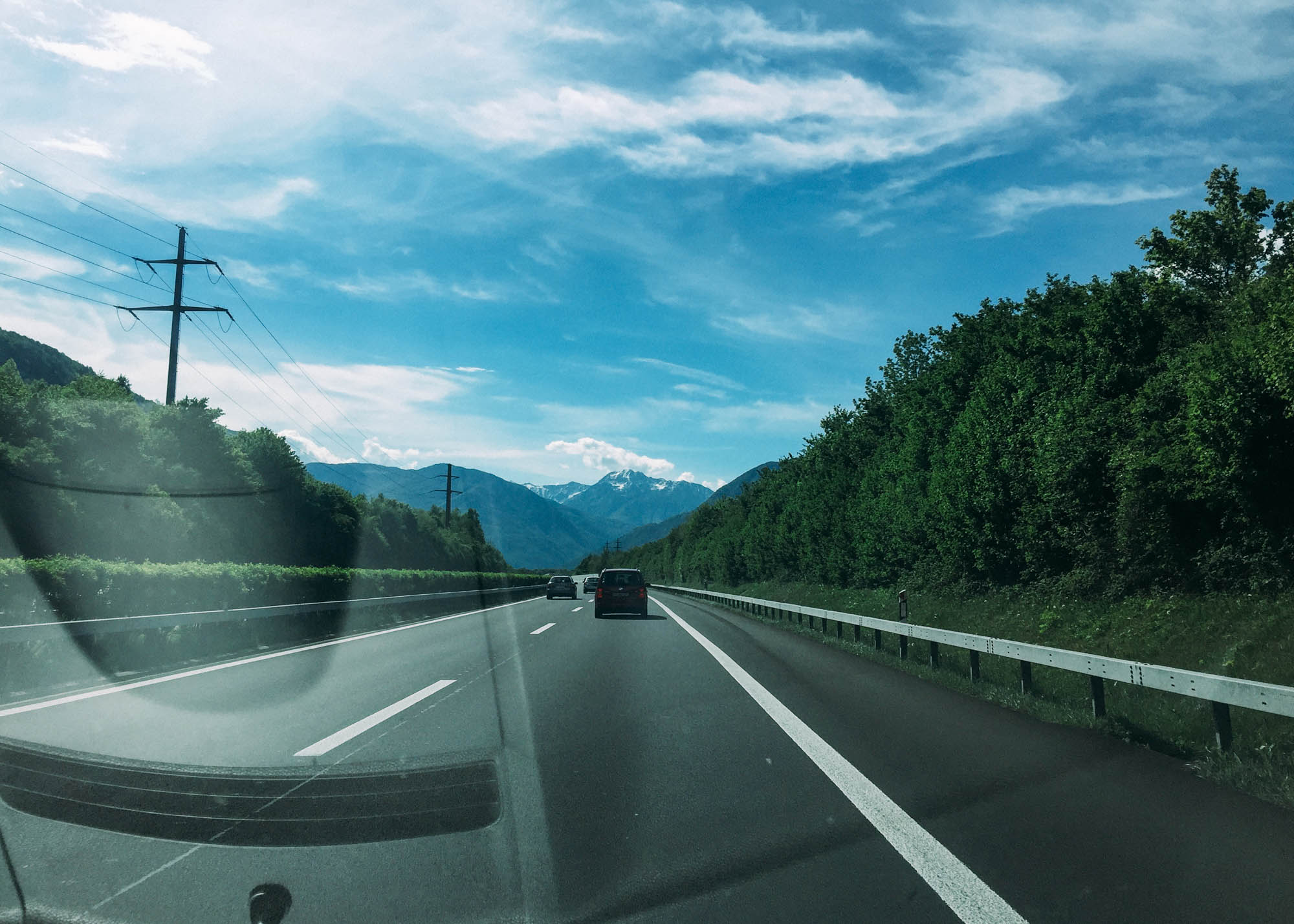Europe Road Trip - Lucerne to Varenna road