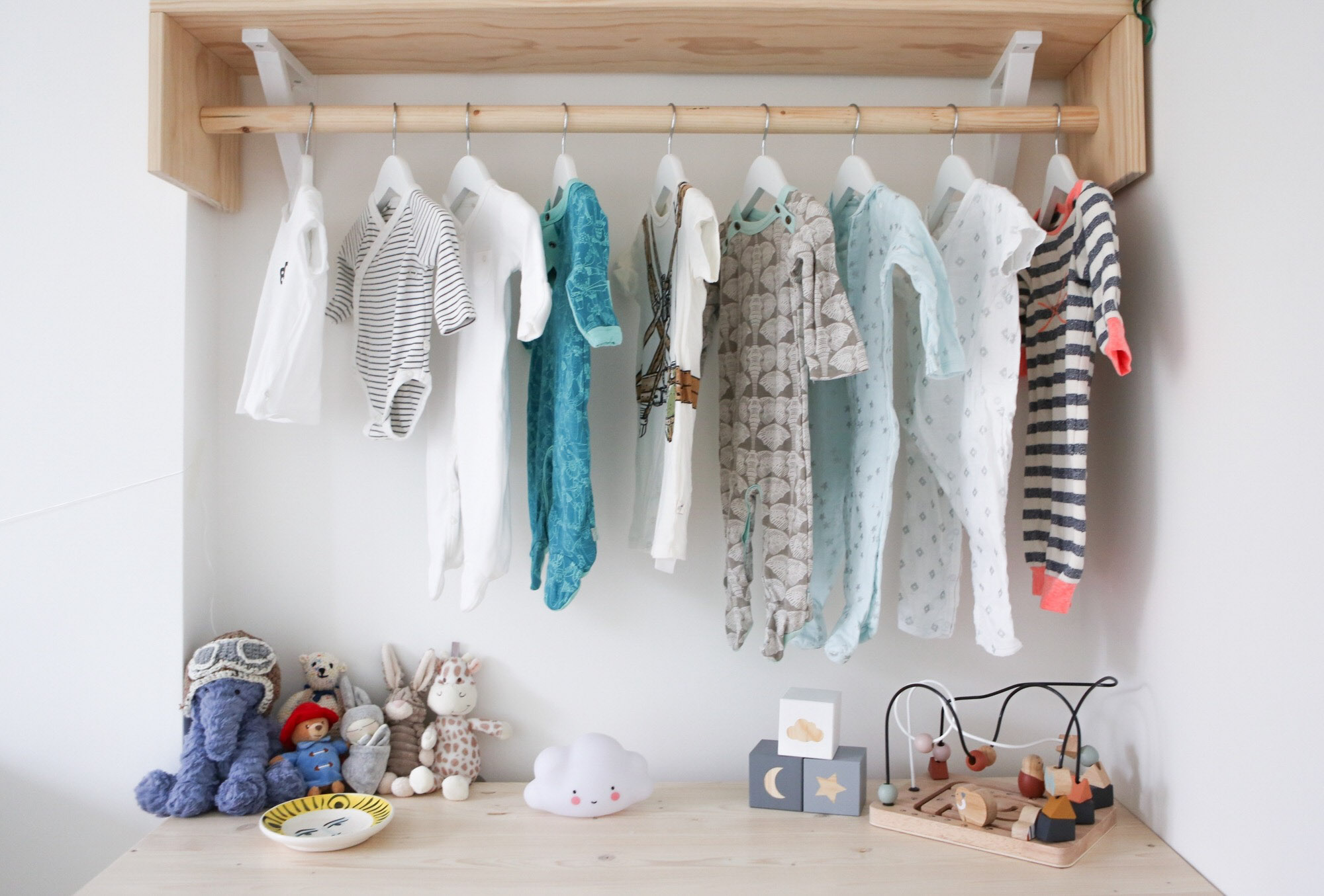 Nursery clothes rail