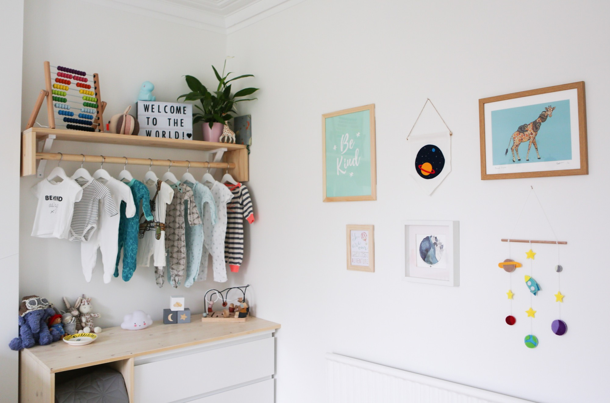 Travel themed nursery - Gallery wall