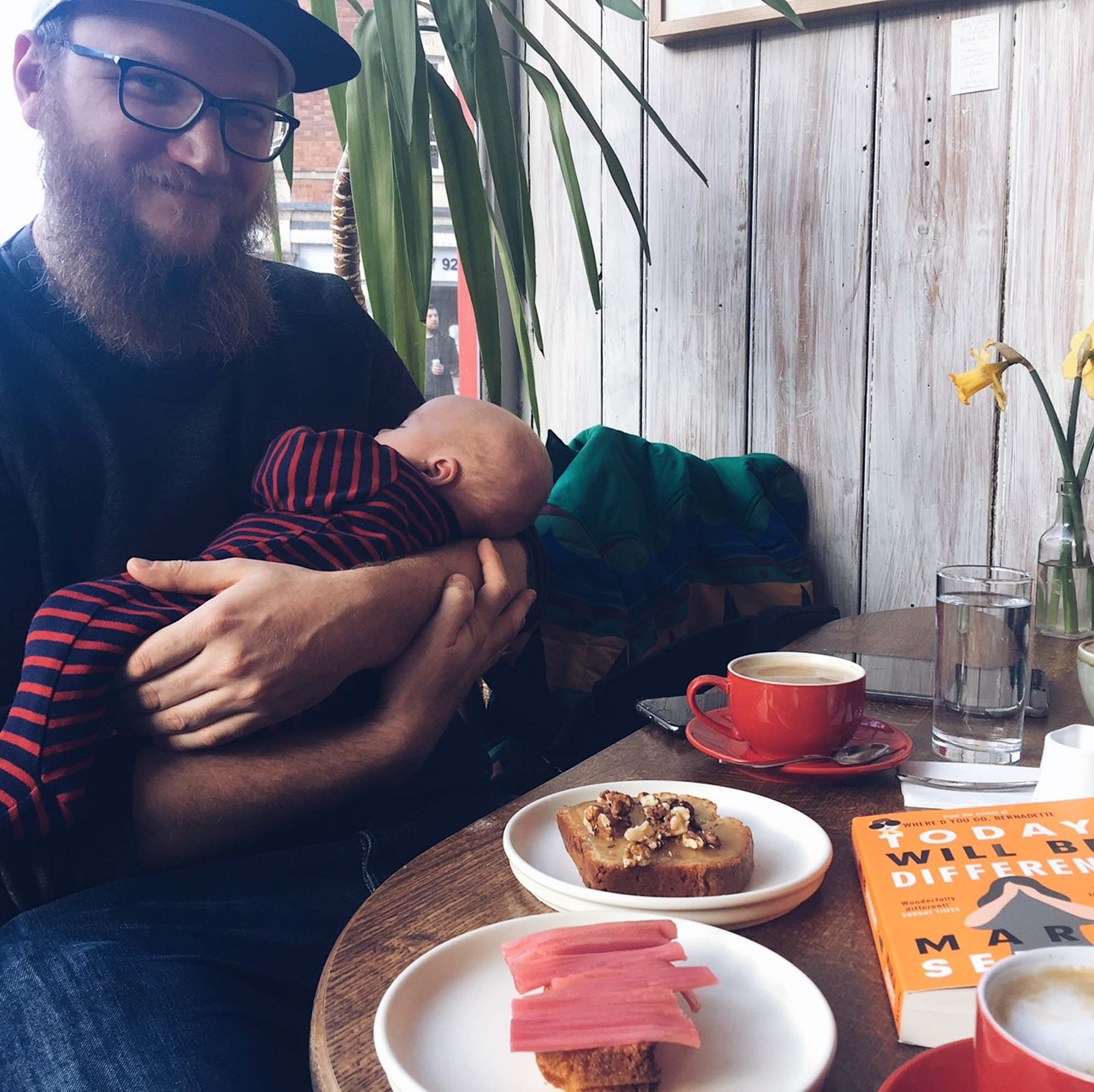 Cafe time with Daddy