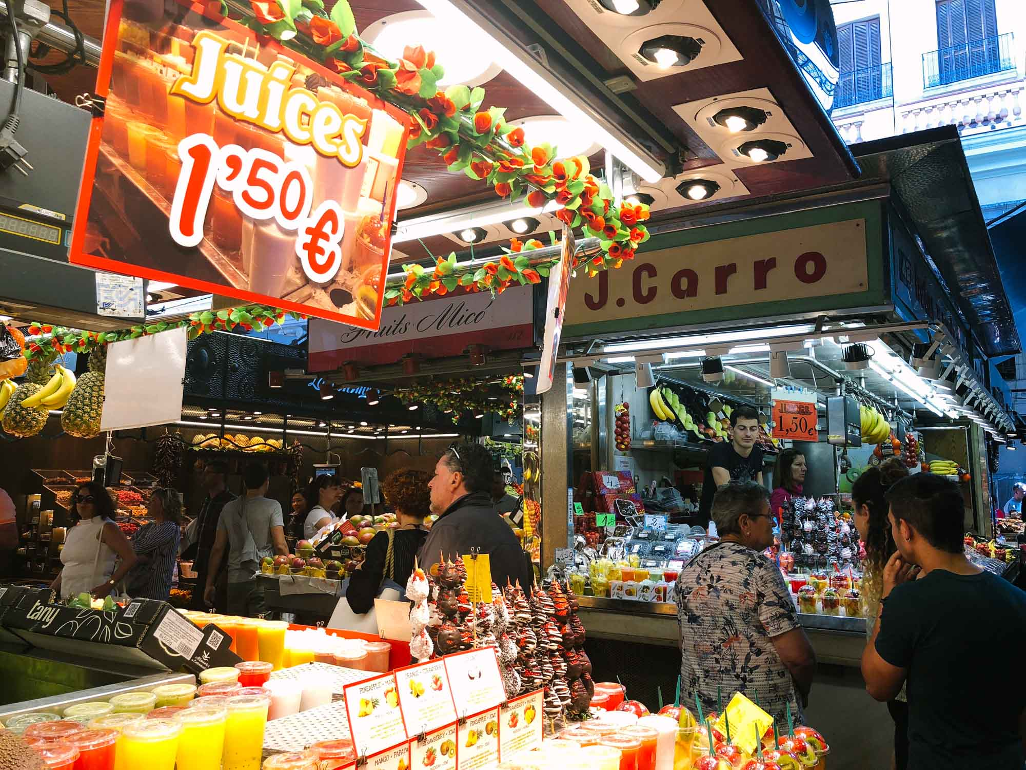 Barcelona with a baby- La Boqueria