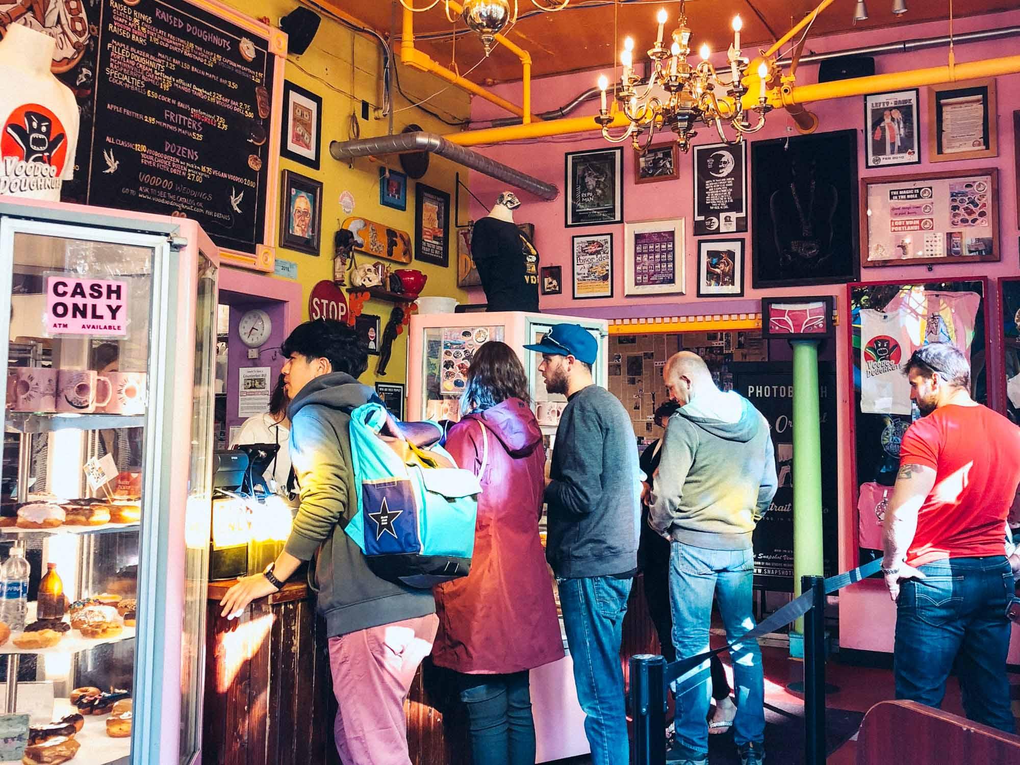 Best vegetarian restaurants in Portland - Voodoo Doughnuts