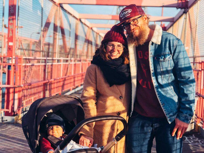 New York with a baby - Brooklyn Bridge