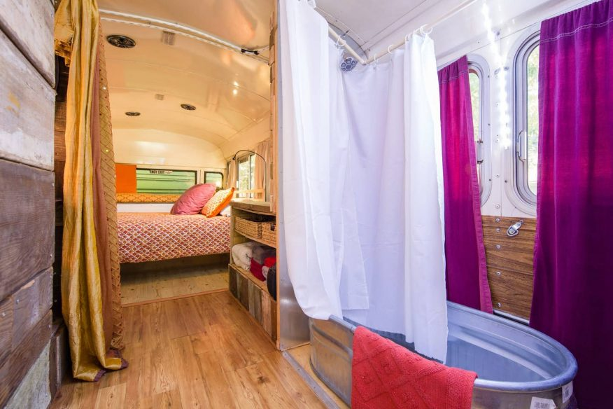 Lady Bluebird Converted Bus - Airbnb Portland