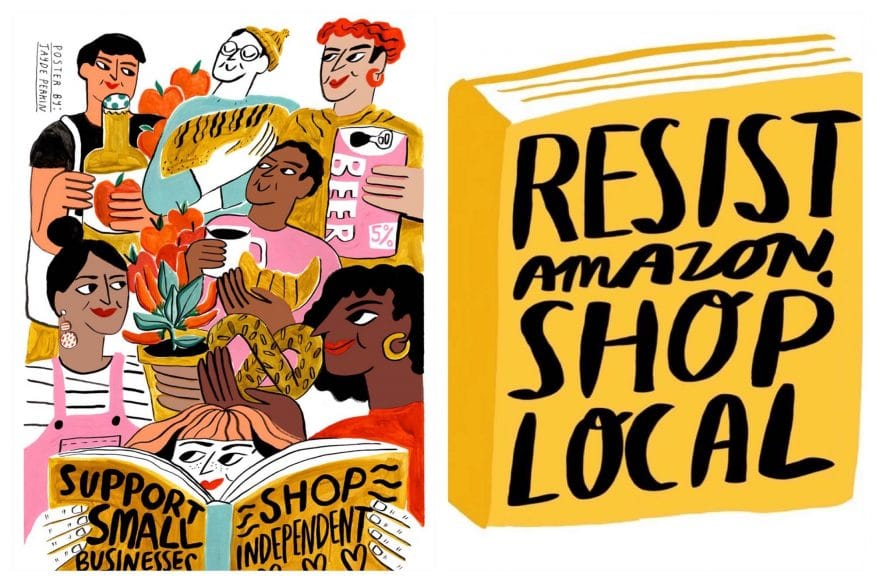 Resist Amazon, Shop Local by Jayde Perkin
